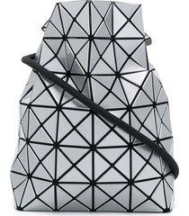 bao bao issey miyake lucent drawstring crossbody bag - silver