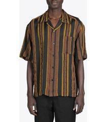 ss camp collar striped shirt