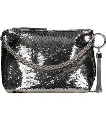jimmy choo callie shoulder bag in silver leather