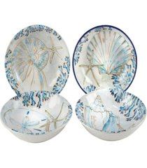 playa shells set of 4 soup bowl
