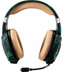 audifono gamer trust gxt 322c 3.5mm verde camuflado