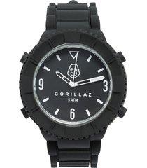 pack reloj  correa adicional blanco/negro gorillaz