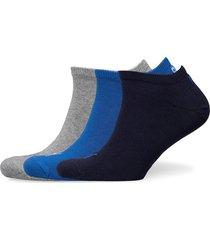 puma unisex sneaker plain 3p ankelstrumpor korta strumpor blå puma
