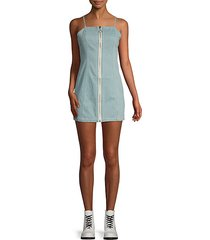 palazzo denim mini dress