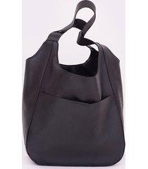 czarna miękka skórzana torba