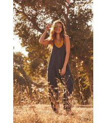 women's free people fp movement hot shot jumpsuit, size small - black