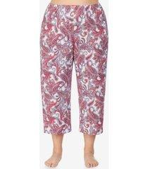 ellen tracy plus size knit pajama capri pant, online only