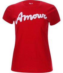 camiseta amowr color rojo, talla s