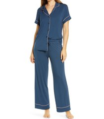 women's nordstrom lingerie moonlight crop pajamas, size x-small - blue