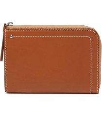 'hex' medium leather zip wallet