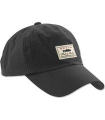 vintage waxed-cotton ball cap, navy