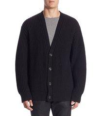regular-fit wool & cashmere cardigan