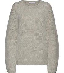 alpaca brushed.furta stickad tröja grå helmut lang