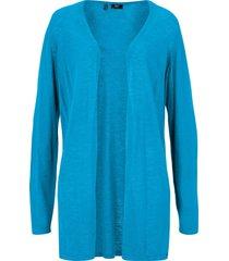 cardigan leggero in cotone con spacchi (blu) - bpc bonprix collection