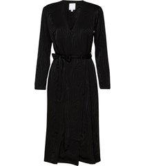 kaarna midi wrap dress knälång klänning svart hálo