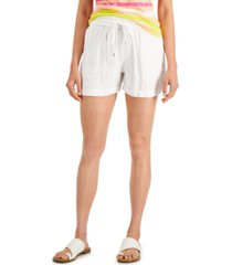 style & co tie-waist shorts, created for macy's