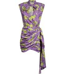 giuseppe di morabito floral print draped dress