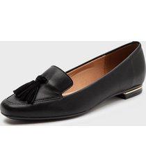 zapato plano negro vizzano