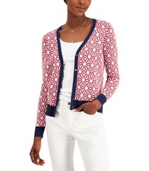 charter club printed cardigan, created for macy's