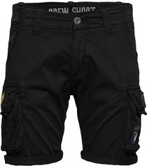 crew short patch shorts casual svart alpha industries