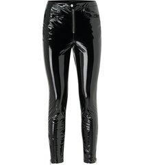 byxor onlbea glazes faux leather pant
