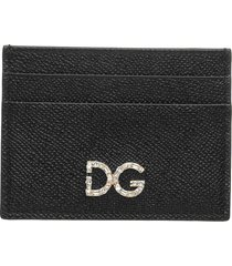dolce & gabbana dolce & gabbana crystals card holder
