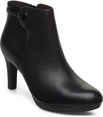 adriel mae shoes boots ankle boots ankle boots with heel svart clarks