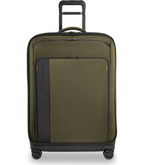 men's briggs & riley large zdx 29-inch expandable spinner packing case - green