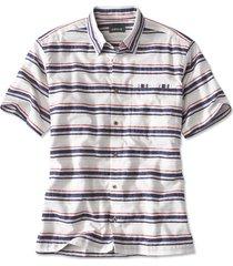 horizontal stripe short-sleeved shirt, white, xx large