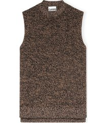 cashmere mix vest in tiger's eye