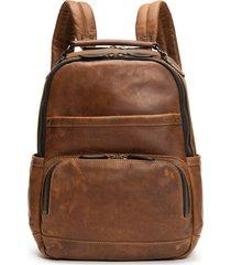 men's frye 'logan' leather backpack - brown