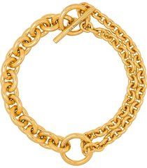 all blues chain-link style bracelet - gold