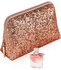 receive a free la vie est belle deluxe and pouch with any $50 lancome purchase