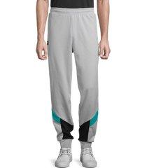 puma men's colorblocked sweatpants - grey - size xxl