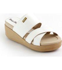 priceshoes sandalia confort dama 072m3080blanco