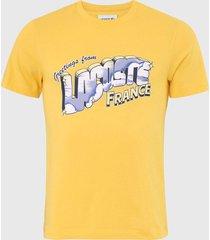 camiseta lacoste france amarela