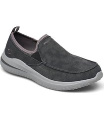 mens delson 3.0 loafers låga skor svart skechers