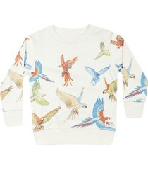 ao76 bird print sweatshirt