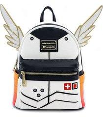 maleta overwatch mini wings - blanco