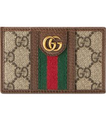 men's gucci ophidia gg card case - brown