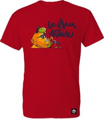 camiseta wizz caribbean attitude - rojo.