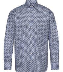 eton midi medallion print shirt skjorta business blå eton