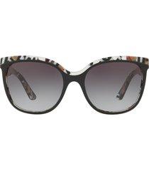 burberry 55mm gradient cat eye sunglasses in top black at nordstrom