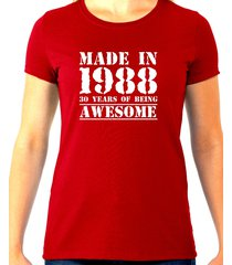 made in 1988, 30 years of being awesome tee