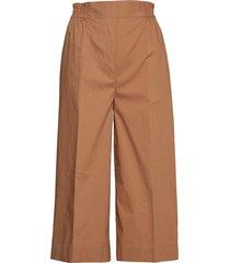 phoebe cropped trousers vida byxor brun second female