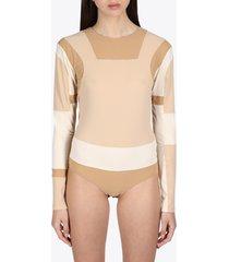 patchwork bodysuit