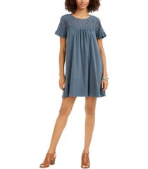 style & co petite cotton eyelet dress, created for macy's