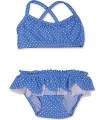 bikini azul caracolores