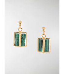 colville gold-plated cage earrings