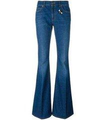 flare-been met bee & vlinder patches jeans
